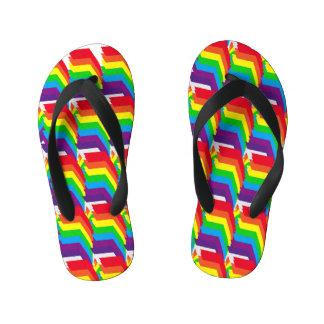 Chinelos Infantis O design o mais fresco das cores do arco-íris