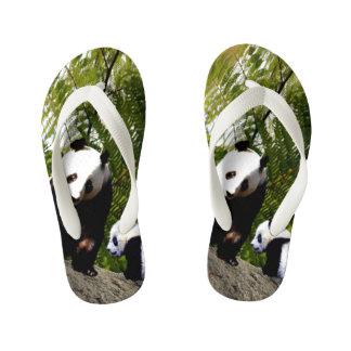Chinelos Infantis Panda da mamã e do bebê,