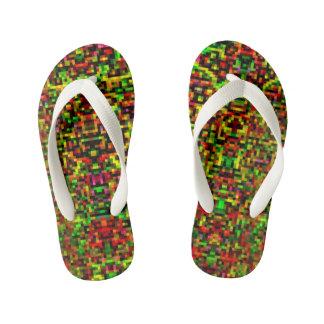 Chinelos Infantis Pixelated Flip-Flops I