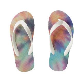 Chinelos Infantis Tintura do laço da espiral do arco-íris mim