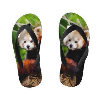 Chinelos Infantis Urso de panda vermelha bonito