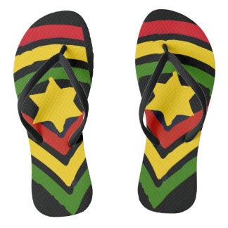 Chinelos jamaicanos da reggae de Jah Rastafari