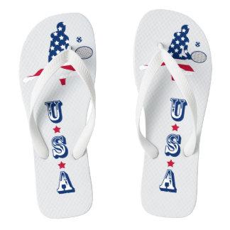 Chinelos Jogador do americano do tênis dos EUA