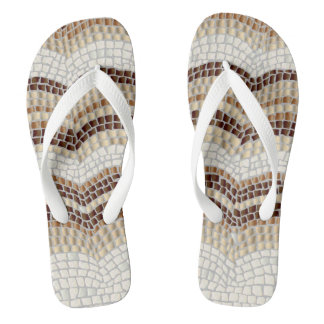 Chinelos largos adultos das correias do mosaico