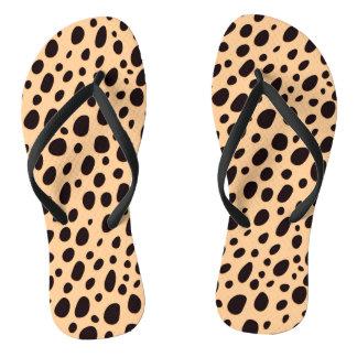 Chinelos Leopardo bege preto e escuro