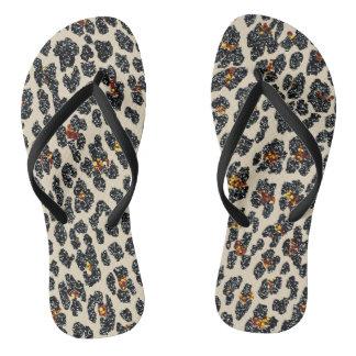 Chinelos Leopardo do brilho
