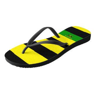 Chinelos listrados jamaicanos de Samuels