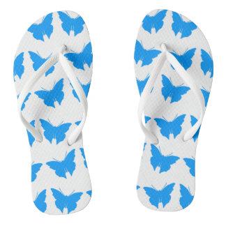 Chinelos Luz - borboletas corajosas azuis da modificação
