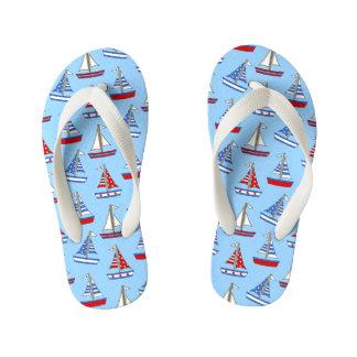 Chinelos modelados dos miúdos veleiro azul