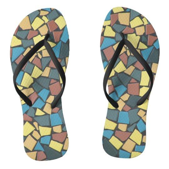 Chinelos mosaico Não-figurativo