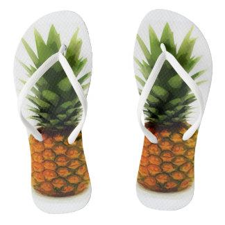 Chinelos O abacaxi CORAJOSO Flip-Flops para o divertimento