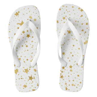 Chinelos Ouro Stars2 - Branco puro