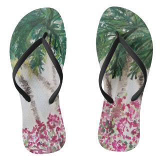 Chinelos Palmtrees no paraíso