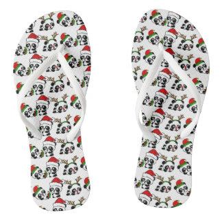 Chinelos Pandas do Natal