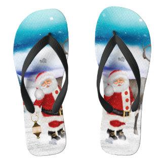 Chinelos Papai Noel engraçado