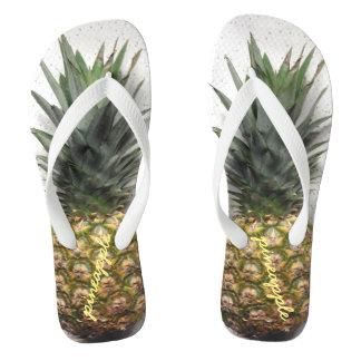 Chinelos personalizados confortáveis do abacaxi