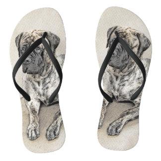 Chinelos Pintura (rajado) inglesa do Mastiff - cão original