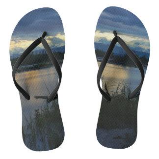 Chinelos Por do sol da meia-noite de Denali