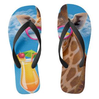Chinelos Praia do girafa - girafa engraçado