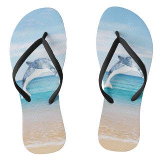 Chinelos Praia, mar, areia, golfinho