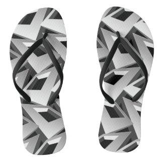 Chinelos quadrados 3D