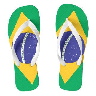Chinelos Qualidade da bandeira de Brasil