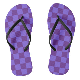 Chinelos Roxo Checkered