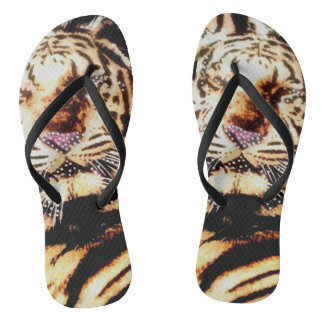 Chinelos roxos do nariz do tigre para mulheres