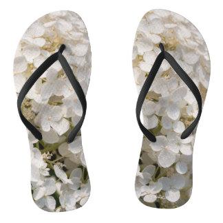 Chinelos sandália, flor branca