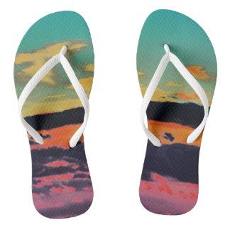 """Chinelos """"Sandálias da praia pelo mar"""""""