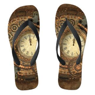 Chinelos Steampunk, maquinismo de relojoaria maravilhoso