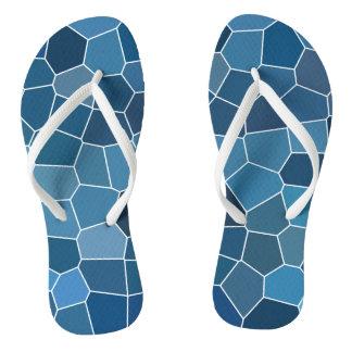 Chinelos Teste padrão azul à moda moderno