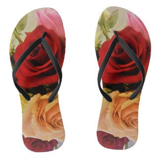 Chinelos Teste padrão bonito dos rosas