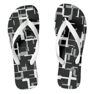 Chinelos Teste padrão cinzento branco preto de Digitas Camo
