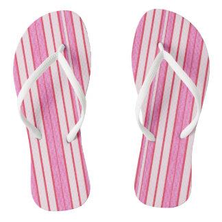 Chinelos Teste padrão cor-de-rosa da textura das listras
