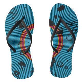 Chinelos Teste padrão multicolorido azul da textura do