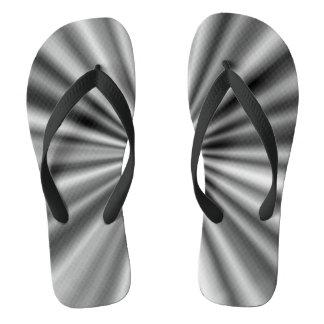 Chinelos Teste padrão preto e branco à moda na moda