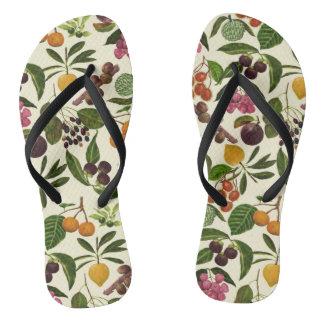 Chinelos Teste padrão rústico colorido pintado à mão da