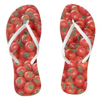Chinelos Tomates vermelhos da videira