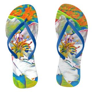 Chinelos tropicais do impressão floral