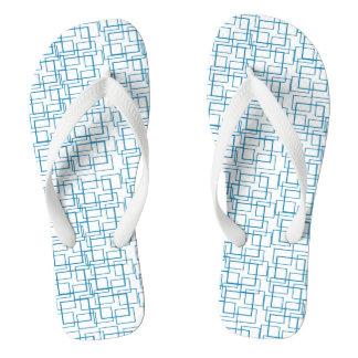 Chinelos Verão branco azul da reflexão da água da piscina
