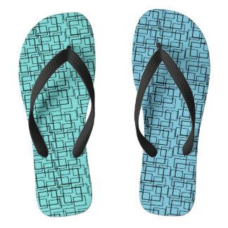 Chinelos Verão do preto do verde azul da água da piscina