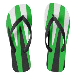 Chinelos Verde do design da onda