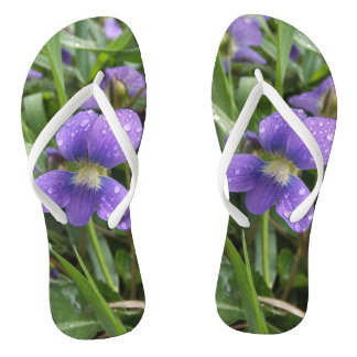 Chinelos violetas chuvosos para mulheres