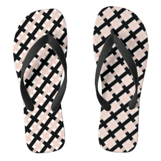 CHINELOS WEAVE CHIQUE DO SACUDIR FLOPS_PINK/BLACK /WHITE