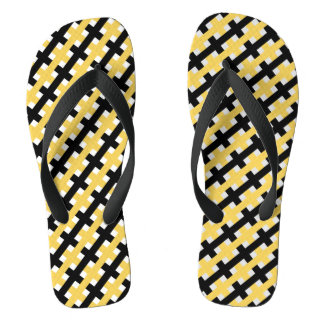 CHINELOS WEAVE CHIQUE DO SACUDIR FLOPS_YELLOW/BLACK /WHITE