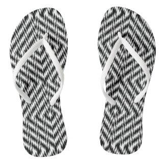 Chinelos Ziguezague preto e branco