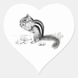 Chipmunk Adesivo Coração
