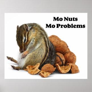 Chipmunk dos problemas do Mo dos loucos do Mo Pôsteres