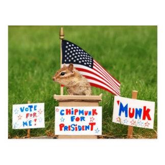 Chipmunk para o presidente Cartão